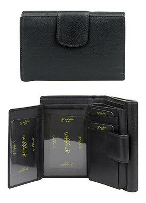 Golunski Leather Wallet & Purse : Made with real leather : BLACK