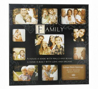 WBL MDF Sentiment Stamp Wall Photo Frame 11 Pic Family