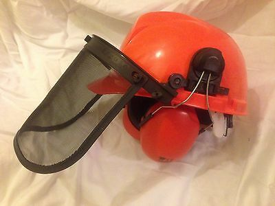 Handy Forestry Chainsaw Helmet Hat with Mesh Visor Safety Protection