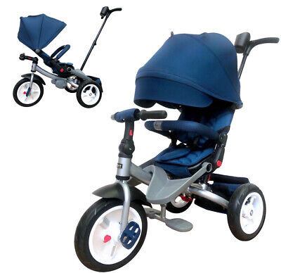 Little Tiger  4 In 1 Kids Trike Tricycle With Rotating Seat, Reclining Backrest