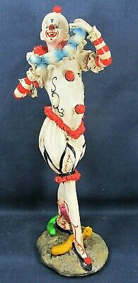 Clown Making Balloon Animals  Circus Collectible Figurine Home Decor