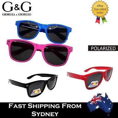 Cool G&G Children's Boys Girls Wayfarer Sunglasses Polarized Pink Blue Black Red