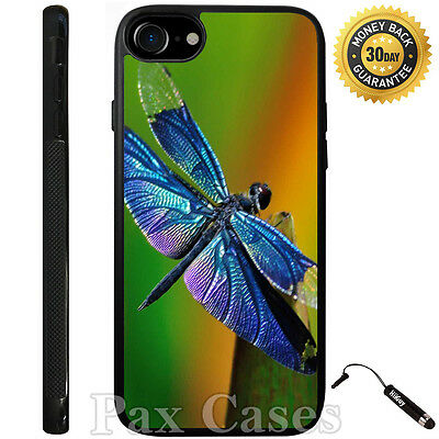 Custom Case for iPhone 6 6S 7 7 Plus+Galaxy S6 S7+STYLUS-Rainbow Wing Dragonfly