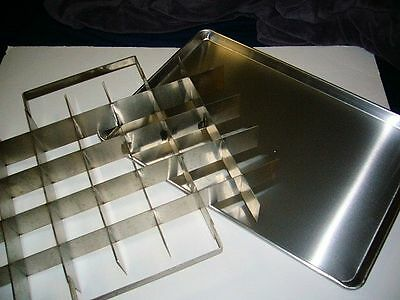 FULL Sheet BreadCake Pan & Cutter, Stainless Steel Cutter, 3-1/2 x 3-1/2 pieces