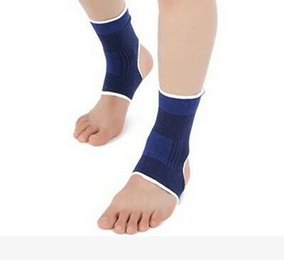 Wrap Pain Relief Ankle Foot Support Brace Sports Elastic Compression Sleeve 2pcs
