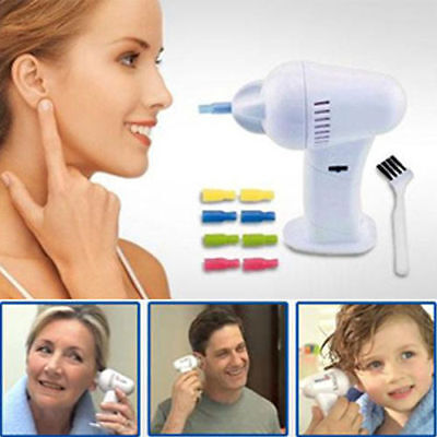New Led Electric Ear Wax Remover Vac Vacume Cleaner Painless Cordless Safety