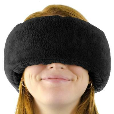 Wrap-a-Nap Travel Pillow, Sleep Mask & Ear Muff in One. Sleep Anywhere! (Black)