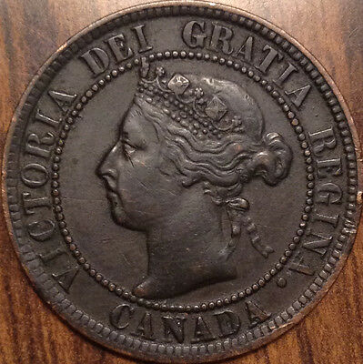1900 No H Canada Large Cent Keydate Coin In Superb Hg Condition !