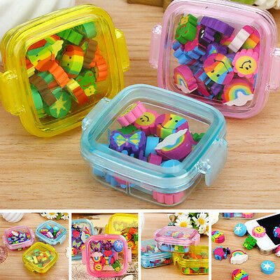 New Cute Mini Rubber Pencil Eraser Stationery Novelty Kids Party Gift Set Hot RO