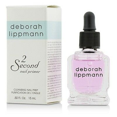 NEW Deborah Lippmann 2 Second Nail Primer (Cleansing Nail Prep) 15ml Womens