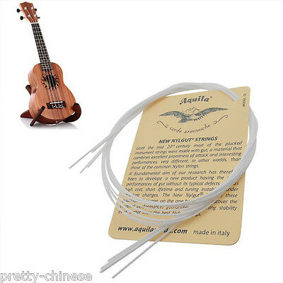 Set of 4 Strings White Nylon Replacement Part for Ukulele Guitar New LOT Perfect