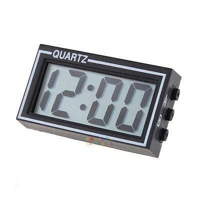 H3E# Mini Digital LCD Dashboard Auto Clock Time Calendar for Car Motorcycle
