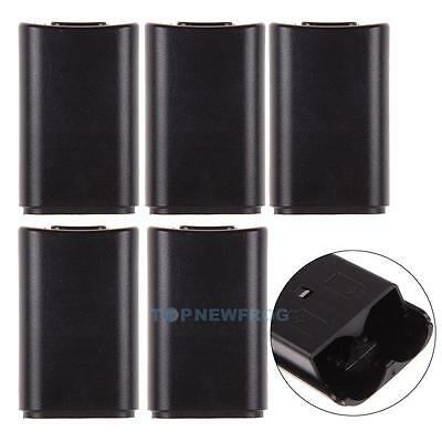 5x Black Battery Back Cover Case Pack for Microsoft Xbox 360 Wireless Controller