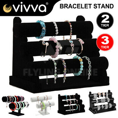 3-Tier Jewelry Stand Bracelet Holder Necklace Display Bracelet Rack Organizer