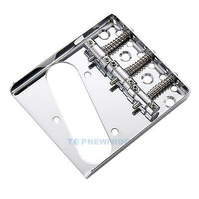 New Chrome 3 Ashtray Silver Saddle Bridge For Telecaster TELE Electric G TN2F