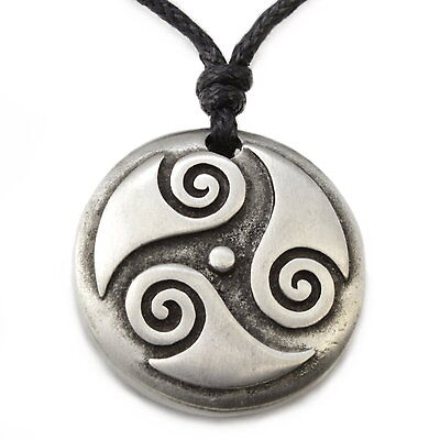 N309 Halskette Anhänger TRISKELE Tribal Surferkette Herren Necklace Men Pendant