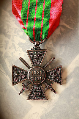 Ww2 French Croix De Guerre Cross Of War Medal Full Size