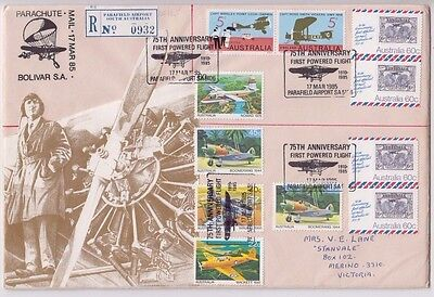 Stamps Australia various on cover 75th anniversary 1st powered flight registered