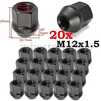 20pcs M12x1.5 Wheel Lug Nuts Alloy Open End Acorn Conical Seat 19mm 3/4 Hex