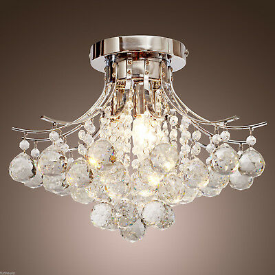 Chandelier Modern Crystal 3 Lights Ceiling Fixtures Lighting Lamp Mini Style Hot