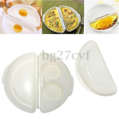 Microwave Omelet Mold Poach Cook Kit Cooker Pan Maker Egg Poacher Kitchen Gadget