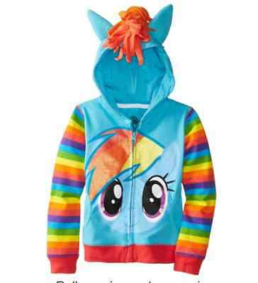New My Little Pony Hoodie Wings 2,3,4,5,6,7,8 YEARS JACKET  Rainbow Dash Girls