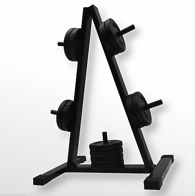 1 Inch WEIGHT/BARBELL DISC STAND/TREE PLATE GYM STORAGE RACK 5 POST HOLDER