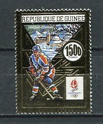 27405) GUINEA 1990 MNH** Nuovi** Olympic Games Albertville