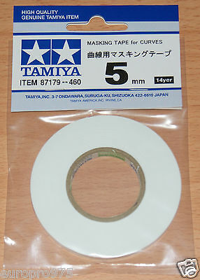 Tamiya 87179 Masking Tape for Curves 5mm Width, 20m Length, for RC Body Shells