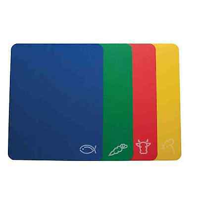 Chopping Mats Colour-Coded Set Of 4 Hygienic Flexible Cutting Kitchen 38X30Cm