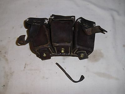 Leather Ammo Pouch for Mauser Ammunition with issues