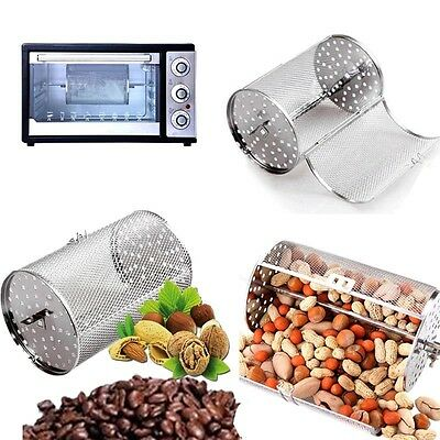 "Coffee Beans Peanut Nuts Food BBQ Rotisserie Roaster Drum Oven 12*18cm(4.7""*7"")"
