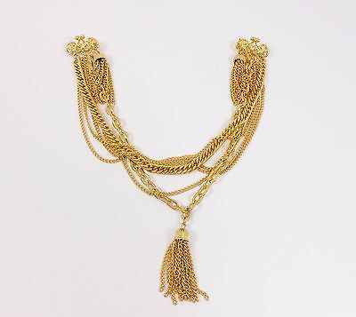 Vintage Gold Tone Chatelaine Pin