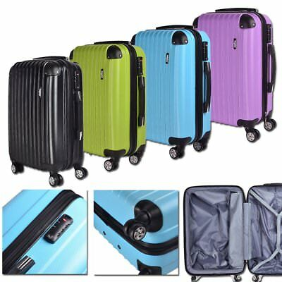 Hard Shell Silent 4 Wheels Suitcase Trolley Travel Cabin Hand Luggage Carry ABS