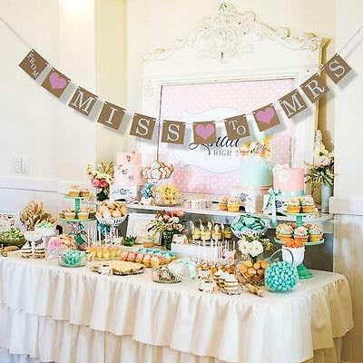 From Miss To Mrs Banner For Bridal Shower And Bachelorette Party Decorations