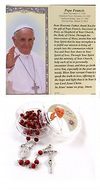 Pope Francis Rosary With Prayer Blessed By The Pope