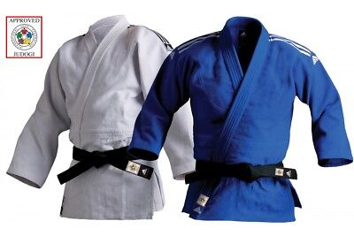 Adidas Champion II Judo Gi 750g Blue White IJF Approved Heavyweight Suit Uniform