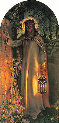 Old Masters reprint (v1f188) The Light of the World 1851by  William Holman Hunt