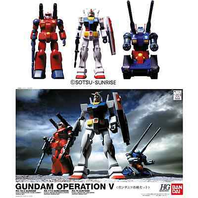 GUNDAM - 1/144 V Operation Set Model Kit HGUC - RX-78 Guncannon Guntank Bandai