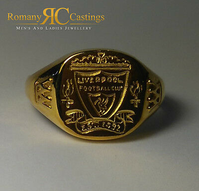 Men's Polished Liverpool Football Club  Cast in 9ct Gold  Ring 5.4 grams