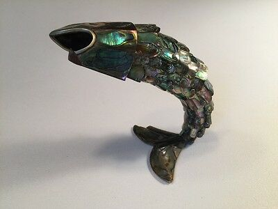 Vintage Articulated Fish Bottle Opener Opalescent 8 inches