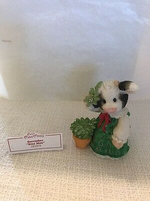 December Kiss Moo Marys Moo Moos Enesco 257575 Free Shipping!