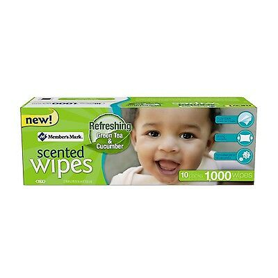 Member's Mark Premium Baby Wet Wipes 10 Packs of 100 (1000 Ct) SCENTED NEW
