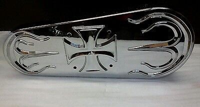 Open Primary Belt Drive Cover CHROME Maltese for Tauer & BDL Open Belt Drive NEW