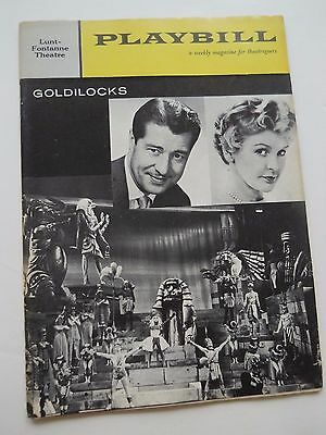 1958 - Playbill - The Lunt-Fontanne Theatre - Goldilocks - Don Ameche