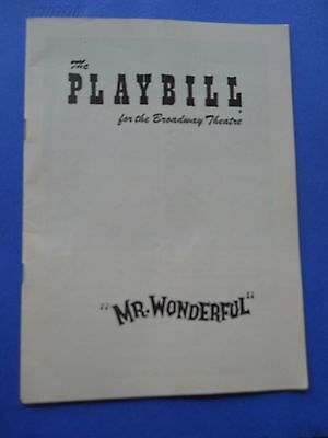 1956 - Broadway Theatre - Playbill - Mr. Wonderful - Sammy Davis Jr.