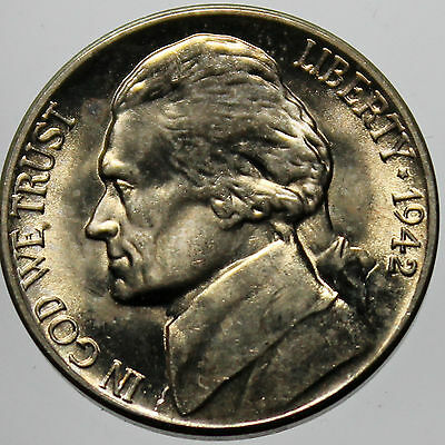 1942-D Full Step FS Gem BU Jefferson Nickel (SP)