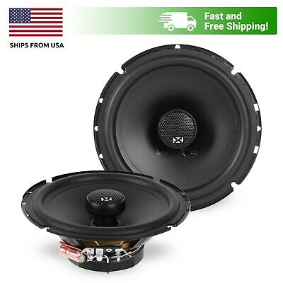 "NVX VSP65 100W RMS 6.5"" V-Series Coaxial Car Stereo Speakers"