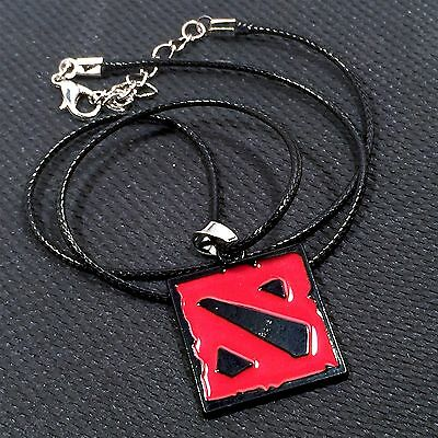 DOTA 2 (Defense of the Ancients 2) - Collectible Pendant Black Rope Necklace