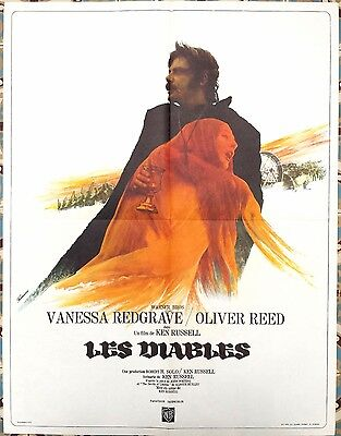 1971 THE DEVILS V. Redgrave Oliver Reed Ken Russell French 24x32 film poster